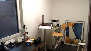 Die eine Hälfte des neuen , noch nicht ganz fertigen Packraumes mit gleichzeitiger Bürofunktion.